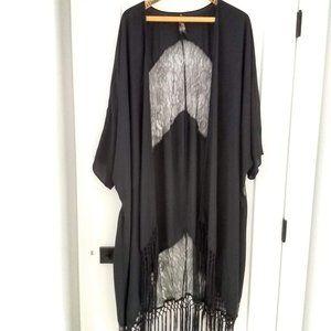 Melissa McCarthy Black Kimono size 1X